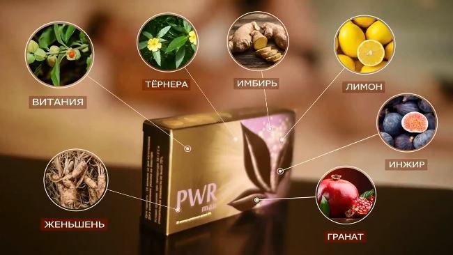 состав драже PWR MEN